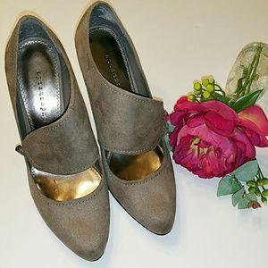 {Apostrophe} Grey Heels Size 9.5M